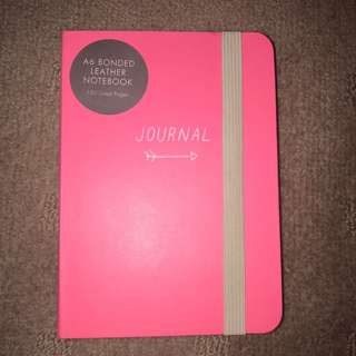 Kikki.K Pink Leather A6 Journal