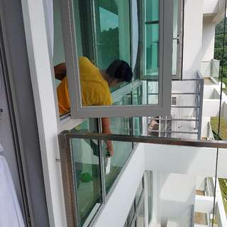 GLASS AND WINDOW CLEANING.