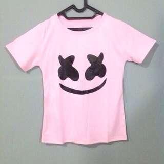 Marshmellow Pink - Tumblr Tee Lengan Pendek Cewek