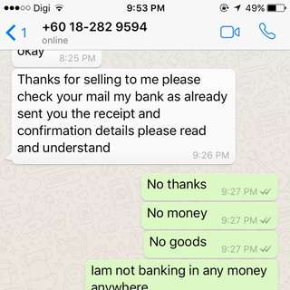 Scammer Detected 0182829594