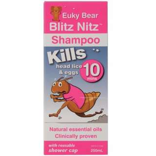 Euky Bear Head Lice Blitz Nitz Shampoo 250mL
