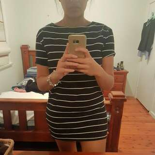 Stripy Mini Dress
