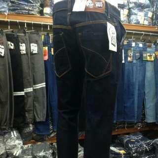 Grosir Celana Jeans Panjang Pria Slimfit Stretch Cheap Monday Blue Black - Serian Min 6 Pcs