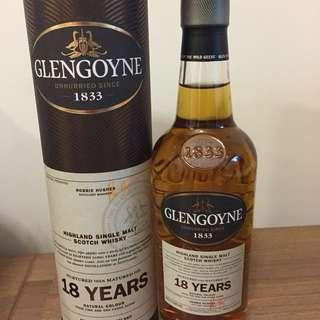 蘇格蘭威士忌Glengoyne 18 Years 200ml