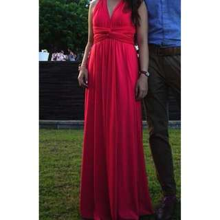 Dressabelle Convertible Maxi Dress in Coral