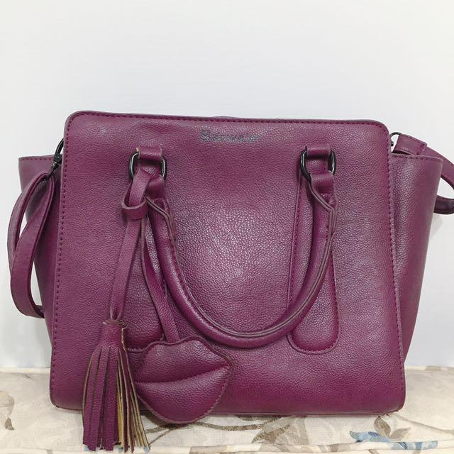 紫色托特小包(肩背、手拿)