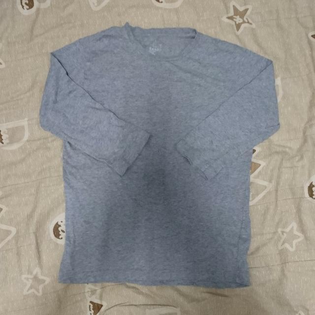 無印良品 灰色7分袖T
