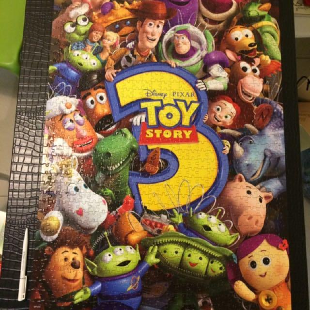正版迪士尼 玩具總動員 拼圖(1000片)