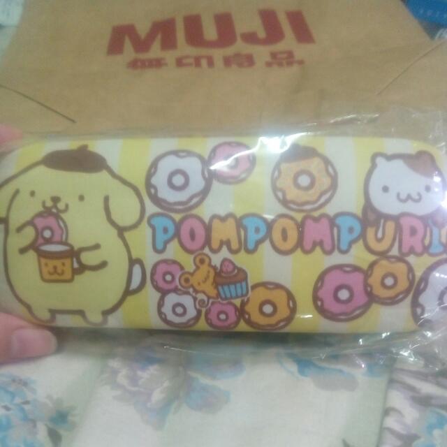 三麗鷗布丁狗 黃色眼鏡盒