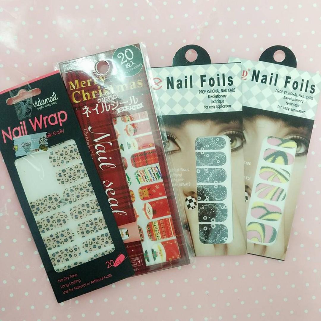 全新 ❤ nail foils指甲貼 豹紋 造型拼接 聖誕節 #兩百元彩妝出清