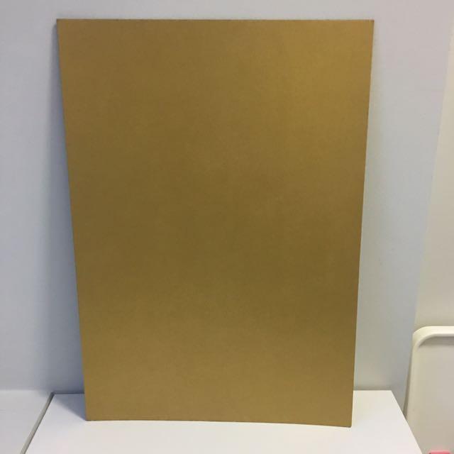 A2 Gold Cardboard