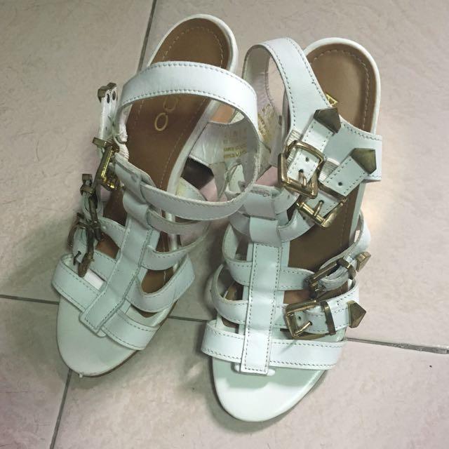 Aldo White&Gold heels