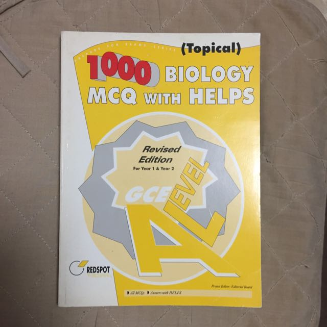 A-Levels book: 1,000 Biology MCQ with Helps, Revised Edition, (Topical) for Year 1 & Year 2, Redspot Publishing