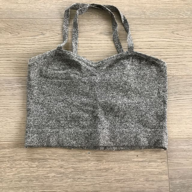 American Apparel Salt&Pepper Knit Strappy Croptop