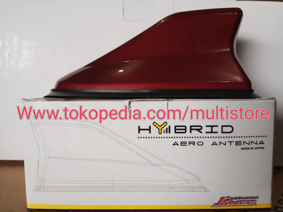 Antena Hybrid Sirip Hiu JS Racing Merah Marun, Auto Accessories on Carousell