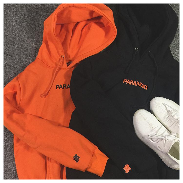 921e29271cea ASSC x UNDFTD Paranoid Pullover Hoodie (Orange Black)