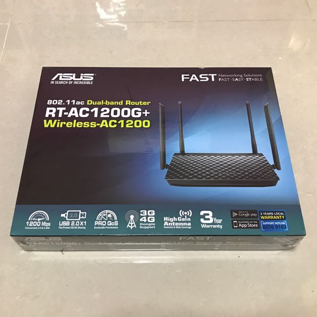 ASUS RT-AC1200G plus wireless router with 3years local warranty