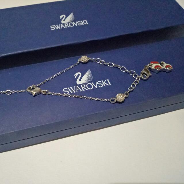 Authentic Swarovski Ladies Bracelet w/ Vespa Charm