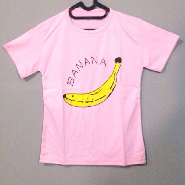 Banana Pink - Tumblr Tee Lengan Pendek Cewek