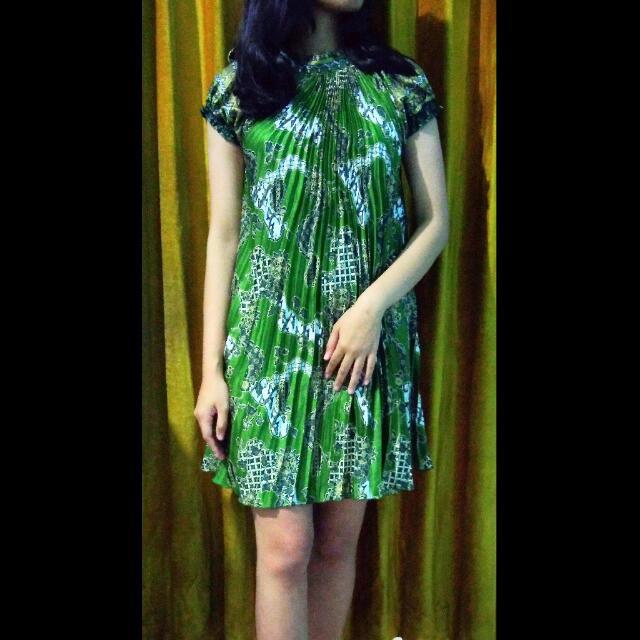 Batik Mini Flare Dress