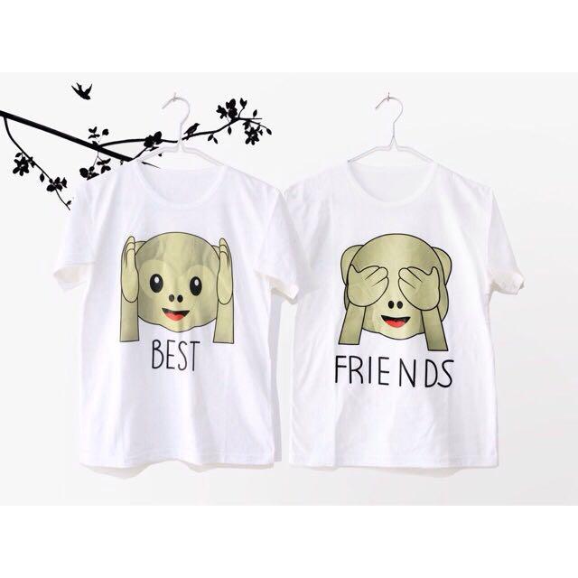 Best Friend Monkey / Love Pink - Tumblr Tee Lengan Pendek Cewek