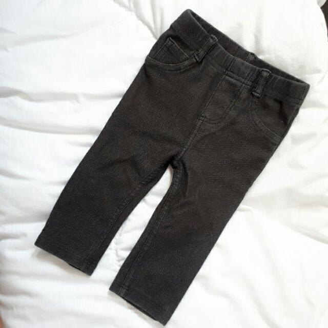 Black Denim Jegging For Baby