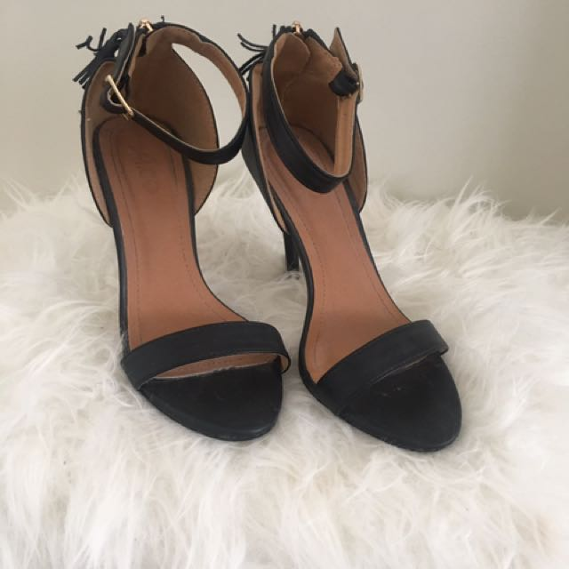 Black One-strap Heels (size 7)