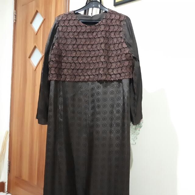 Brown Lace Dress For Muslim