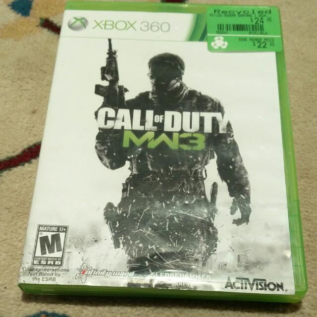 Call Of Duty Modern Warfare 3 For Xbox 360