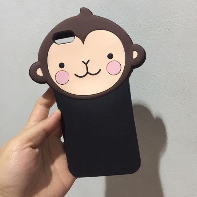 Casing Iphone 6+ Monkey Silicon Rubber