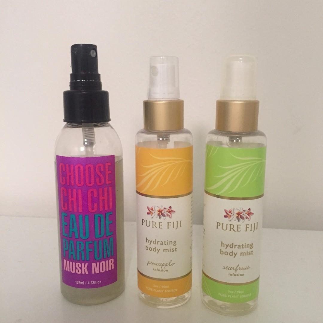 Chi Chi perfume and Pure Fiji
