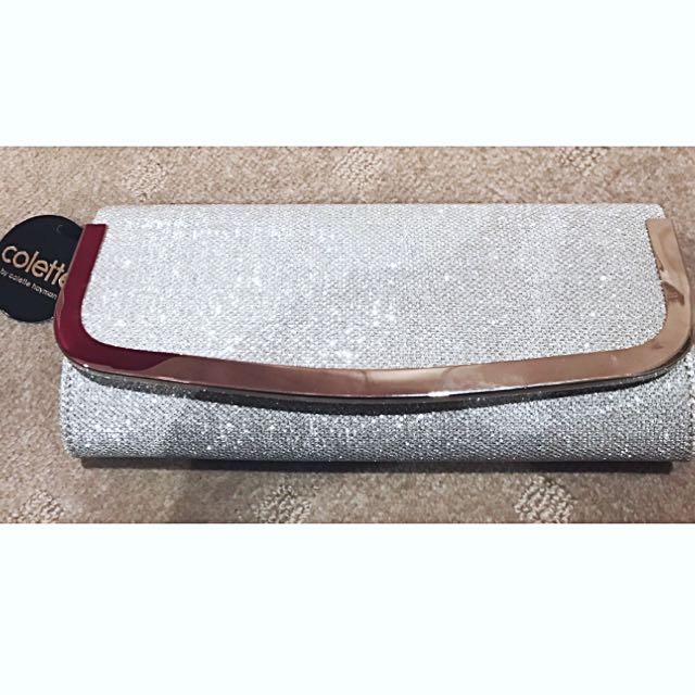 Colette Sparkly Silver Clutch/Bag