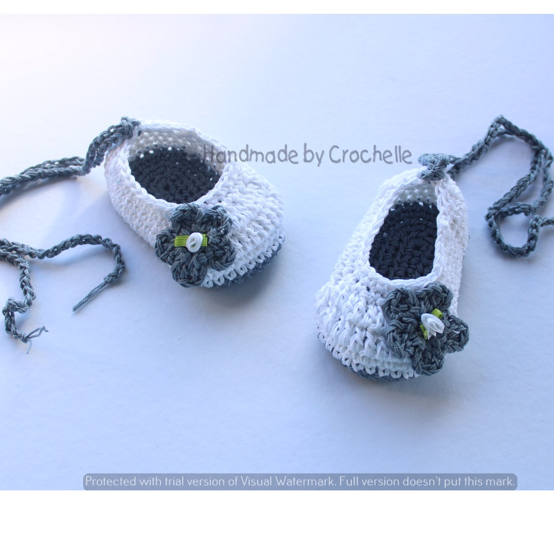 crochet ballerina shoes