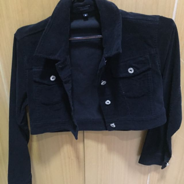 Crop Black Jacket