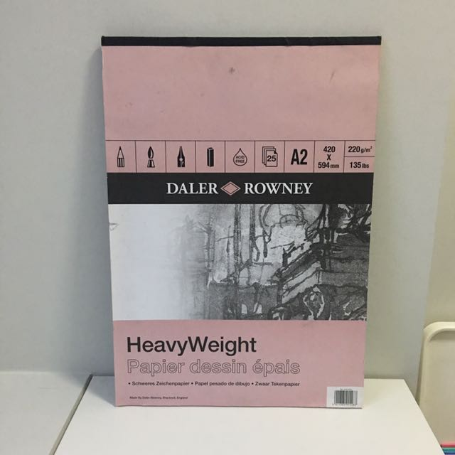 A2 Daler Rowney Heavy Weight 220g/m Paper