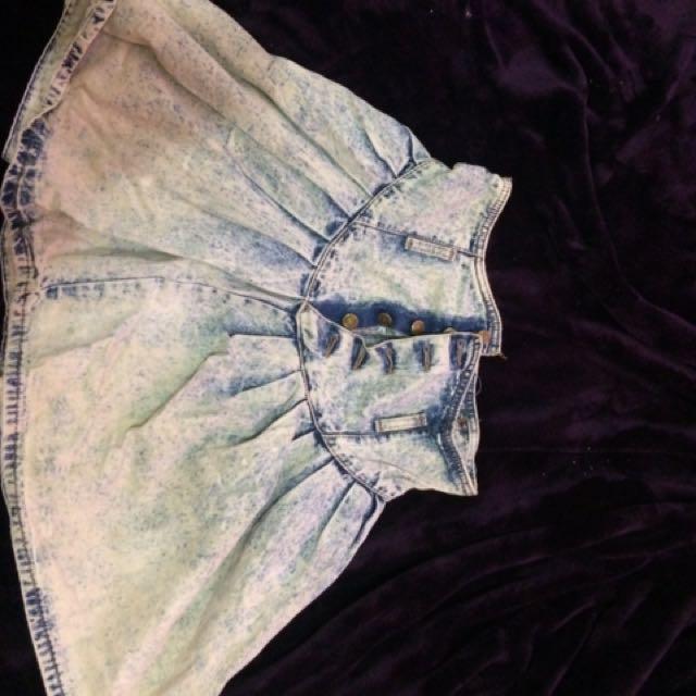 PRICE DROP!!! denim highwaisted skirt