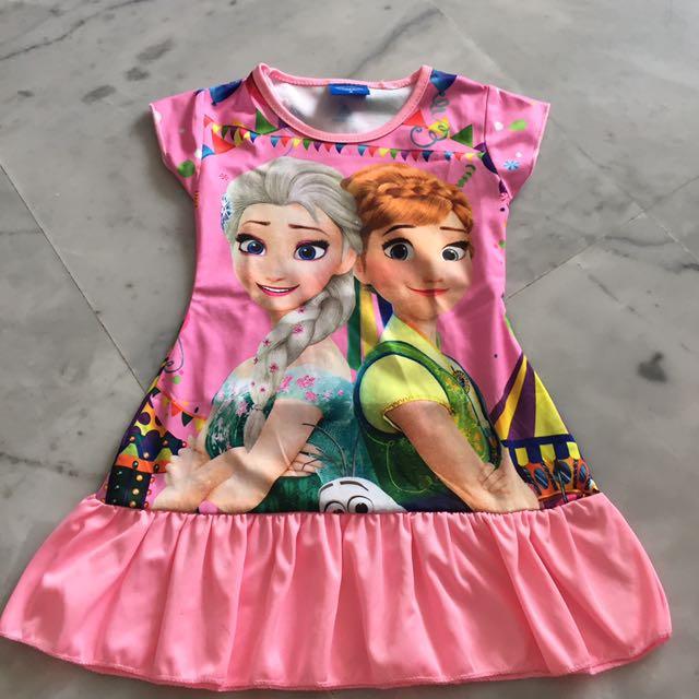 Elsa Anna Dress Pink Frozen