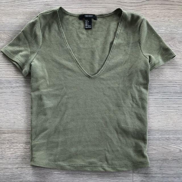 Forever 21 Khaki Shirt