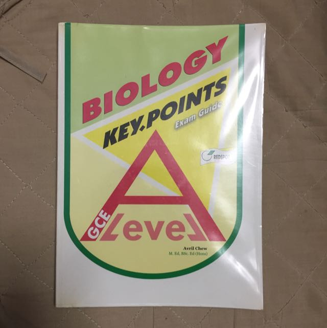 GCE A-Level book: Biology KeyPoints Exam Guide, by Avril Chew, Redspot Publishing