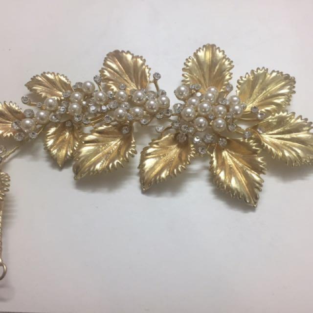 Gold Leaf 🍃 Bridal Hair Accessories