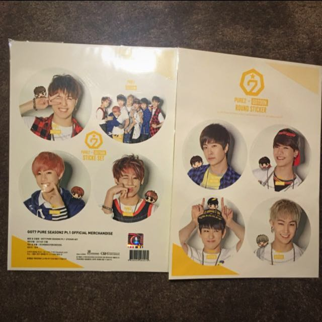 GOT7 Official Stickers