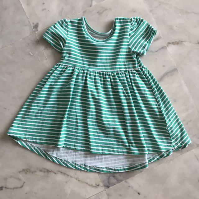 Green Stripes Dress