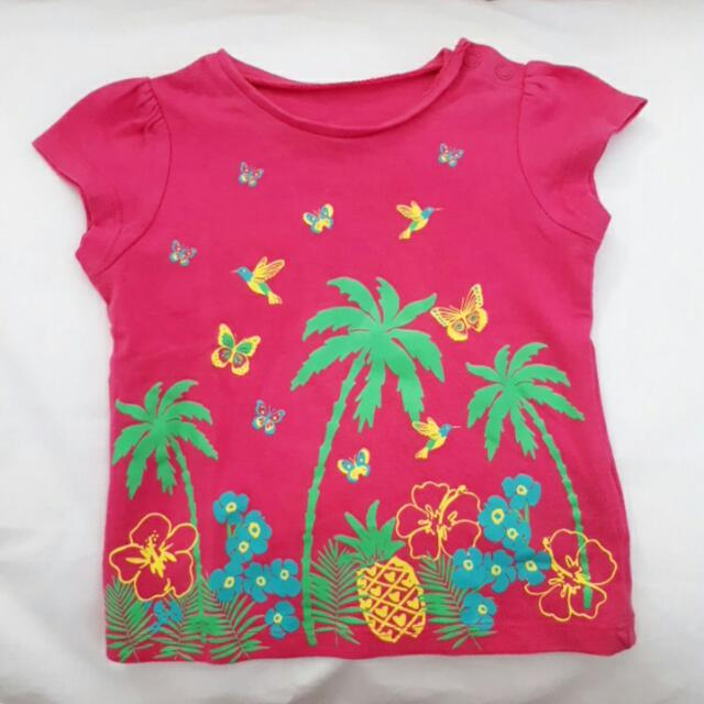 Hawai tshirt for baby girl