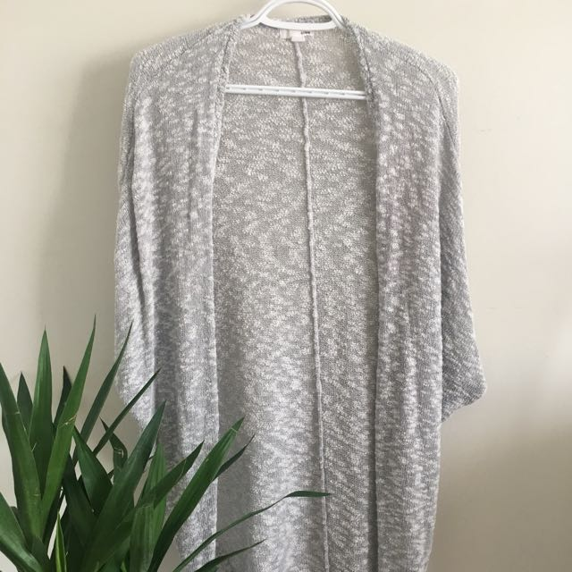 Heather Grey Long Cardigan (Garage, Size xs-s)