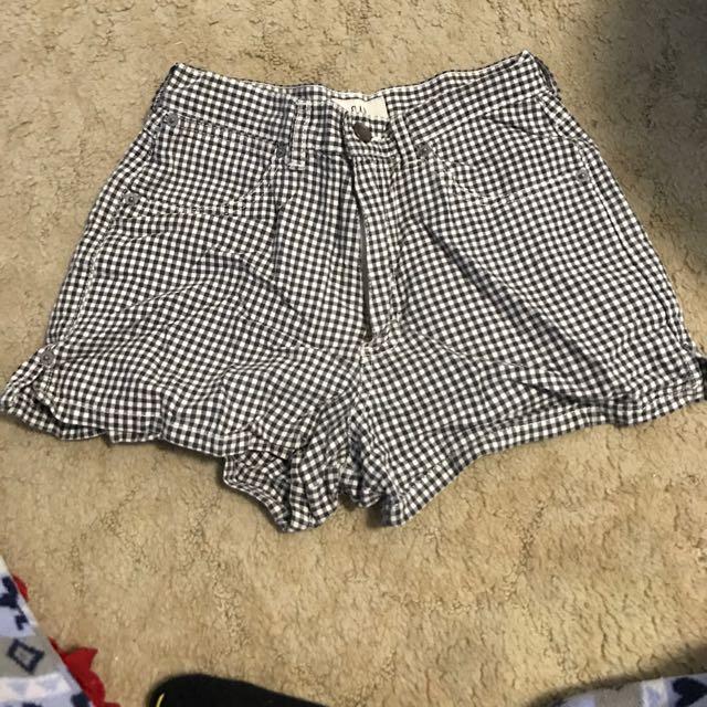 High Waist GAP Checkered Shorts