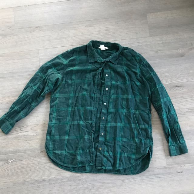 H&M Green Flannel