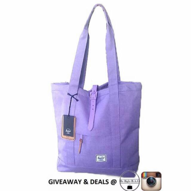 e358ea342ef  INSTOCK  Brand New Herschel Supply Lilac Market Tote Bag, Women s Fashion,  Bags   Wallets on Carousell