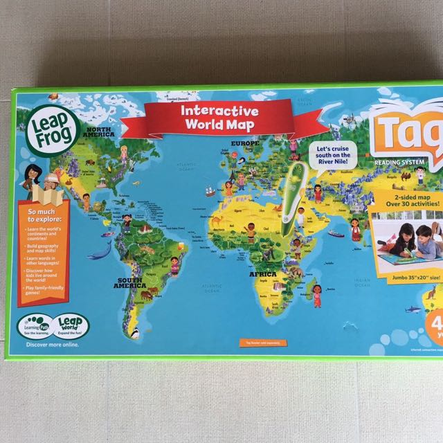 Interactive world map toys games board games cards on carousell gumiabroncs Choice Image