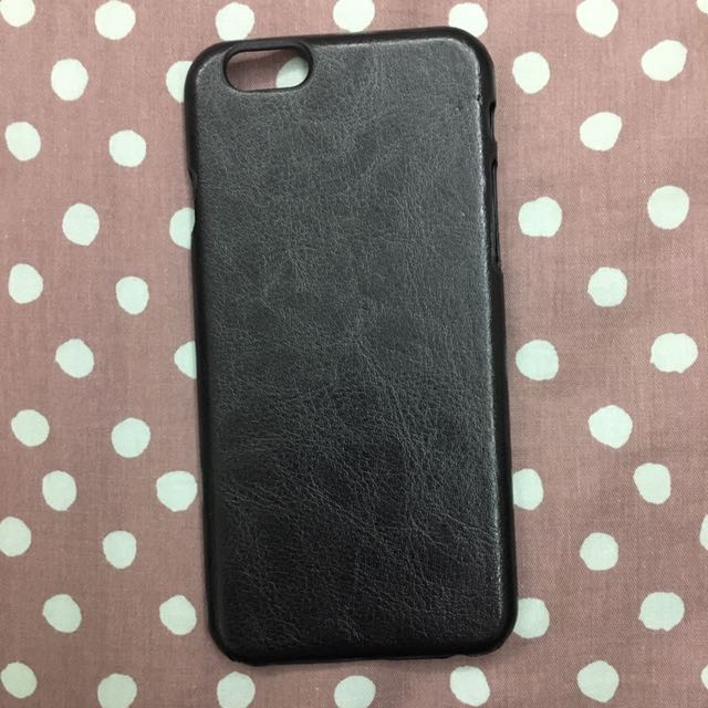 Iphone6黑色皮革手機殼