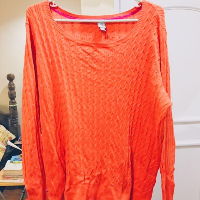 JC PENNEY Tangerine Sweater